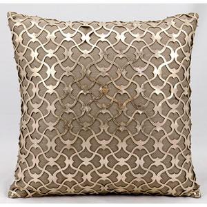 Laser Cut Gold Beige 18-Inch Pillow