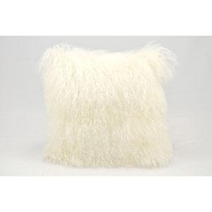 Fur White 20-Inch Pillow