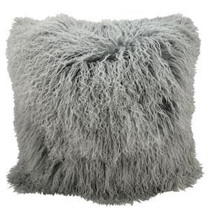Fur Silver Grey 20-Inch Pillow