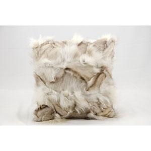 Fur Silver 20-Inch Pillow