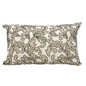 Luminecence Silver 12 x 21-Inch Pillow