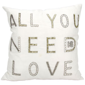 Luminecence White 18-Inch Pillow