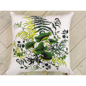 White 20-Inch Outdoor Pillow