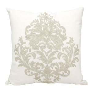 Luminecence Silver 18-Inch Pillow