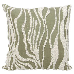 Lumin Beaded Zebra Gray 18-Inch Pillow
