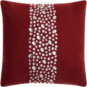 Lumin Center Stones Burgundy 20-Inch Pillow