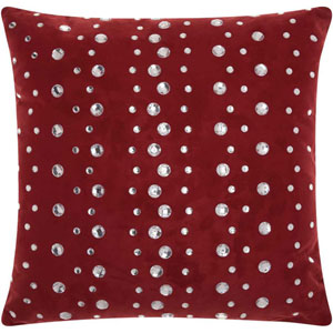 Lumin Raindrops Burgundy 20-Inch Pillow