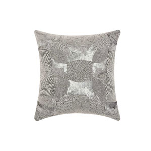 Lumin Antique Beading Platinum 18-Inch Pillow