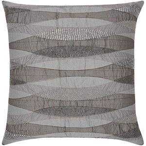 Lumin Geometric Infinity Pewter 18-Inch Pillow