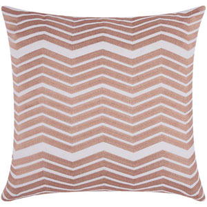 Lumin Thick Chevron Rose Gold 20-Inch Pillow