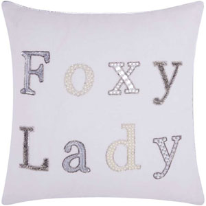 Lumin Foxy Lady White 18-Inch Pillow