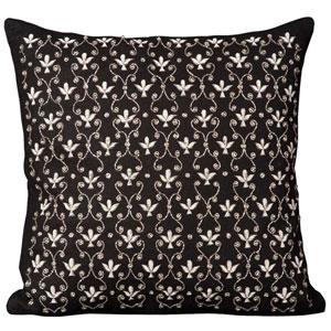 Lumin Fleur De Lis Black 20-Inch Pillow