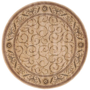 Somerset Ivory Round: 5 Ft. 6 In. Rug