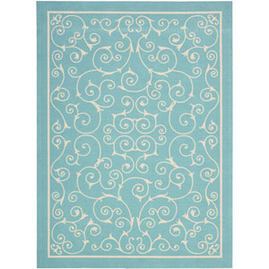 Home And Garden Blue Rectangular: 7 Ft. 9-Inch x 10 Ft. 10-Inch Rug