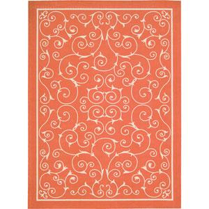 Home And Garden Orange Rectangular: 5 Ft. 3-Inch x 7 Ft. 5-Inch Rug