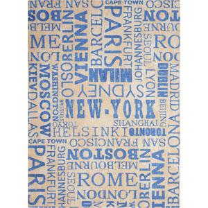 Sun And Shade Blue Rectangular: 5 Ft. 3-Inch x 7 Ft. 5-Inch Rug