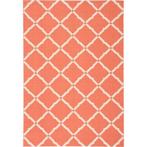 Home And Garden Orange Rectangular: 4 Ft. 4-Inch x 6 Ft. 3-Inch Rug