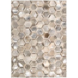 City Chic Silver Rectangular: 5 Ft 3 In x 7 Ft 5 In Rug