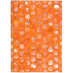 City Chic Tangerine Rectangular: 5 Ft 3 In x 7 Ft 5 In Rug