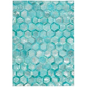 City Chic Turquoise Rectangular: 5 Ft 3 In x 7 Ft 5 In Rug