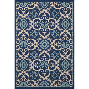 Caribbean Blue Rectangular: 5 Ft. 3-Inch x 7 Ft. 5-Inch Rug