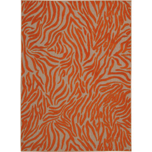 Aloha Orange Rectangular: 5 Ft. 3-Inch x 7 Ft. 5-Inch Rug