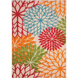 Aloha Green Rectangular: 5 Ft. 3-Inch x 7 Ft. 5-Inch Rug