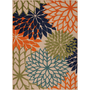 Aloha Multicolor Rectangular: 5 Ft. 3-Inch x 7 Ft. 5-Inch Rug