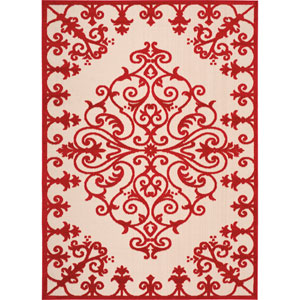 Aloha Red Rectangular: 3 Ft. 6-Inch x 5 Ft. 6-Inch Rug