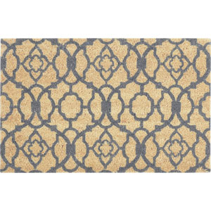 Greetings Gray Rectangular: 1 Ft. 6-Inch x 2 Ft. 4-Inch Rug