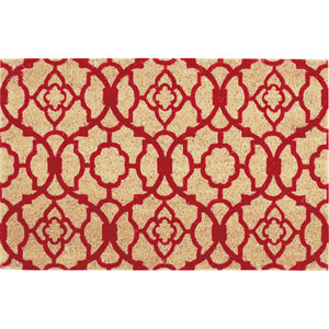 Greetings Red Rectangular: 1 Ft. 6-Inch x 2 Ft. 4-Inch Rug