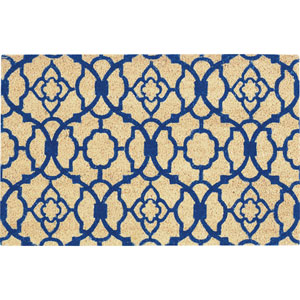 Greetings Blue Rectangular: 1 Ft. 6-Inch x 2 Ft. 4-Inch Rug