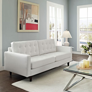 Empress Leather Sofa in White