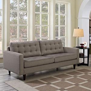 Empress Upholstered Sofa in Granite