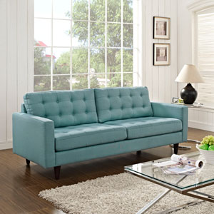 Empress Upholstered Sofa in Laguna