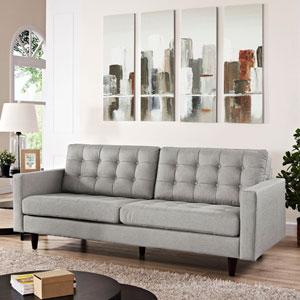 Empress Upholstered Sofa in Light Gray