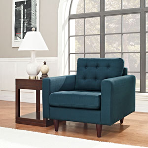 Empress Upholstered Armchair in Azure