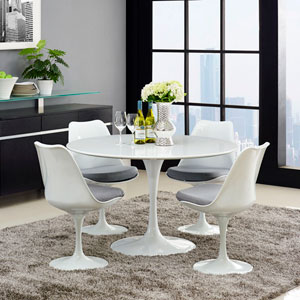 Lippa 47-inch Wood Top Dining Table in White