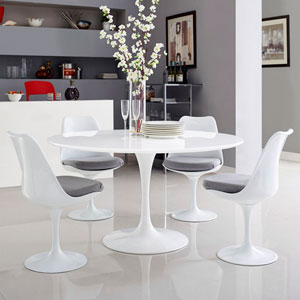 Lippa 54-inch Wood Top Dining Table in White