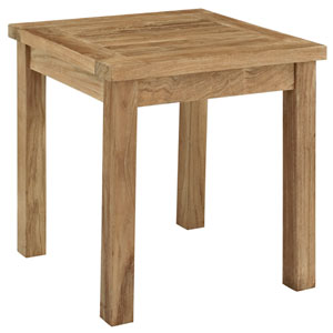 Marina Natural Outdoor Patio Teak Side Table