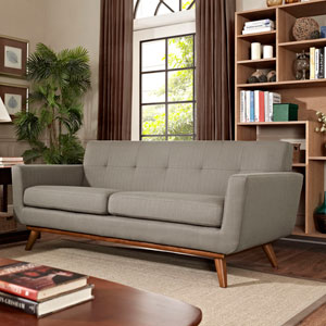 Engage Upholstered Loveseat in Granite