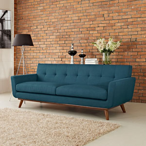 Engage Upholstered Sofa in Azure