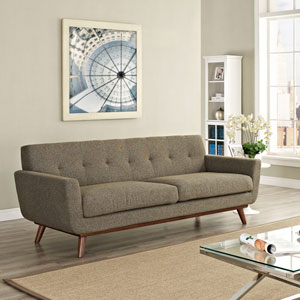 Engage Upholstered Sofa in Oatmeal Tweed