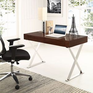 Sector Office Desk in Walnut