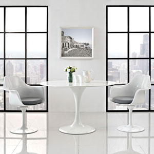 Lippa Dining Armchair Set of 2 in Gray