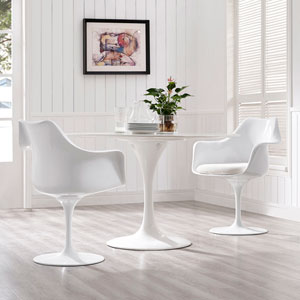Lippa Dining Armchair Set of 2 in White