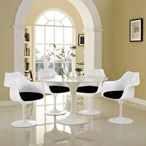 Lippa Dining Armchair Set of 4 in Black