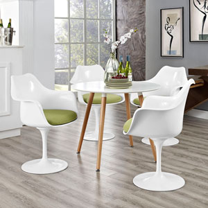 Lippa Dining Armchair Set of 4 in Green