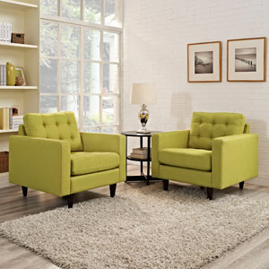 Empress Armchair Upholstered Set of 2 in Wheatgrass