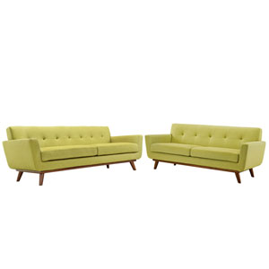 Engage Loveseat and Sofa Set of 2 in Wheat